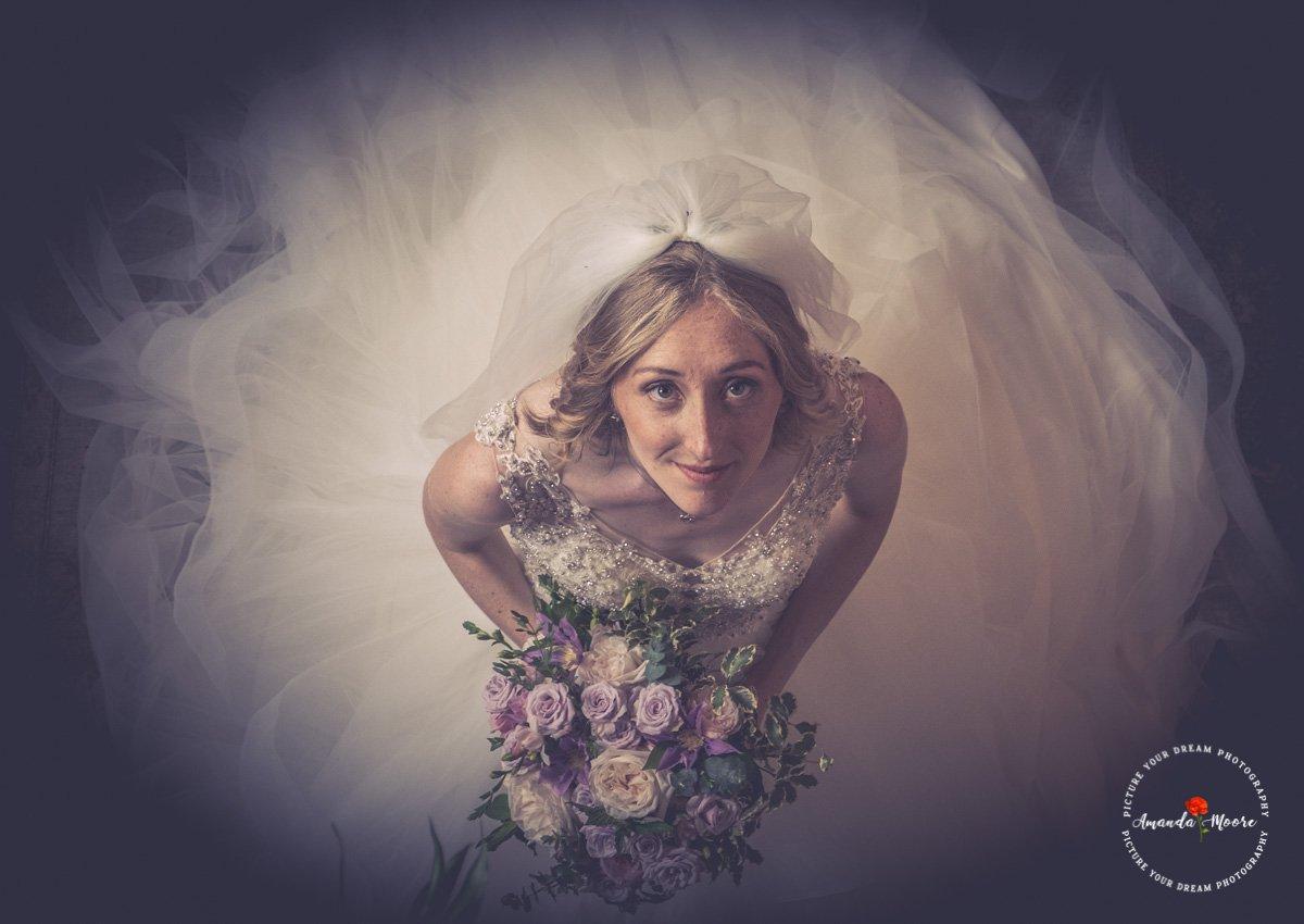 bridal prep at wedding