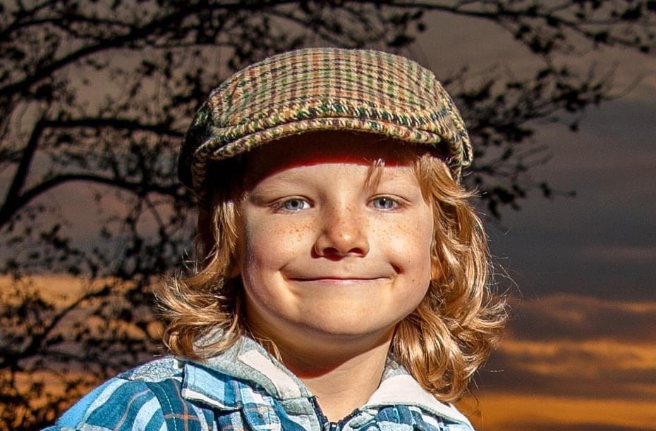 young farmer boy styled shoot