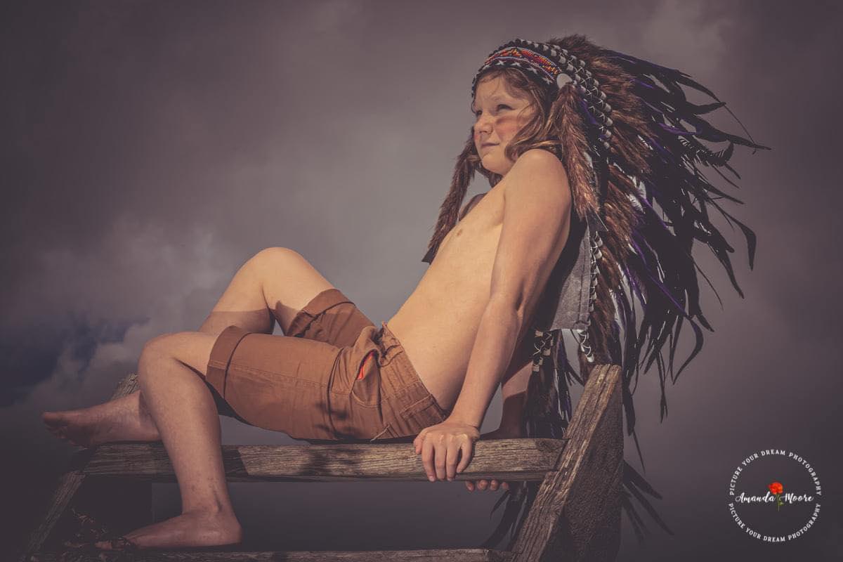native american boy styled shoot