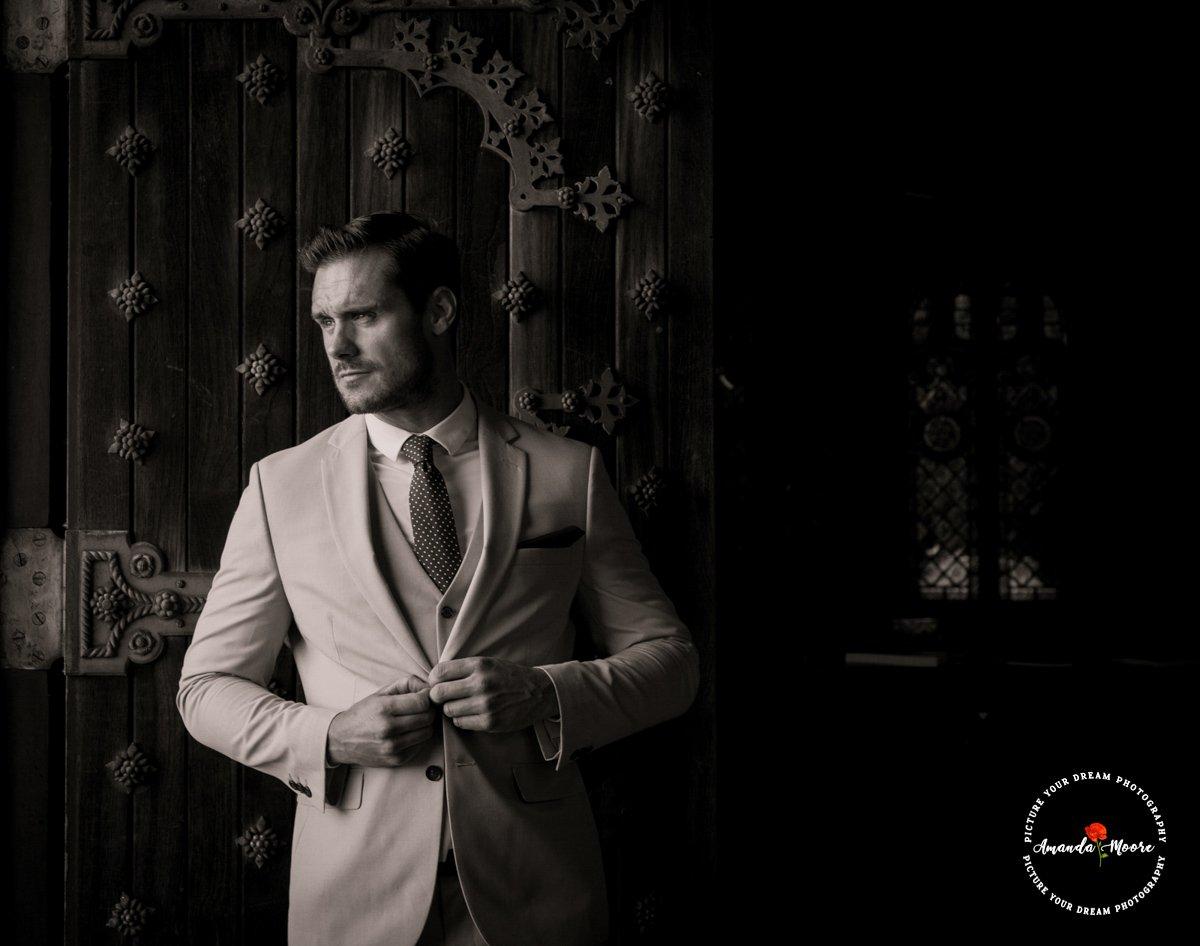 Groom prep wedding photograph
