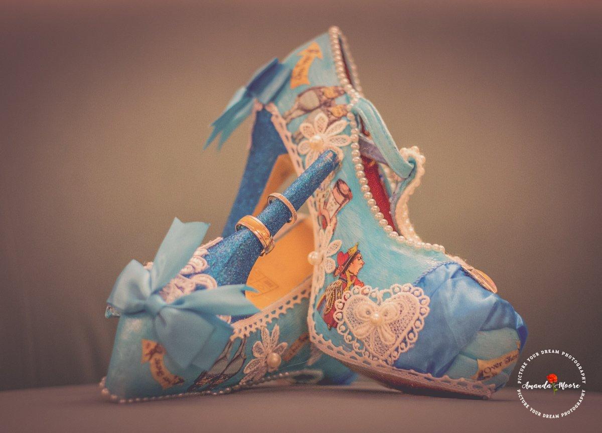 cute wedding shoes photograph