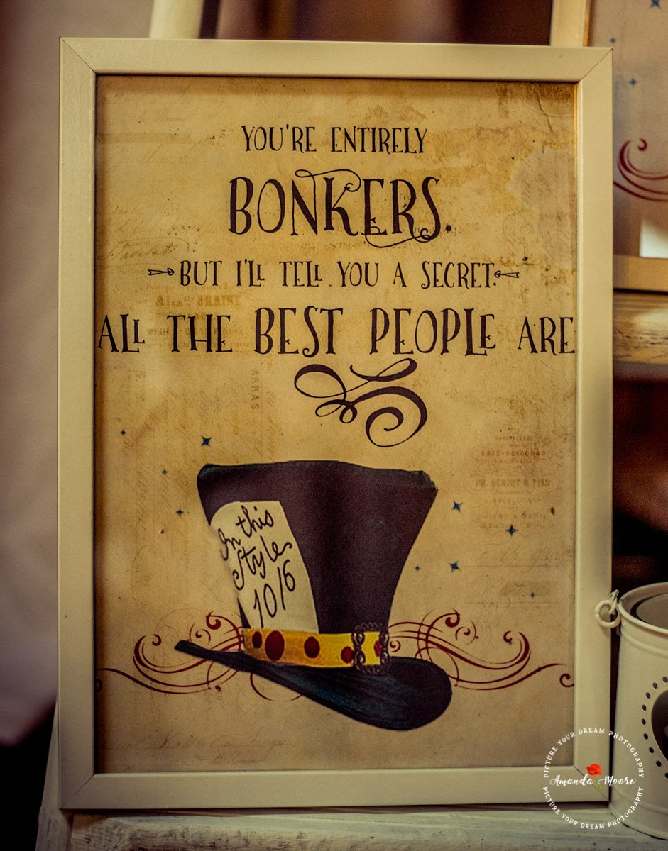 bonkers all the best people are wedding quote