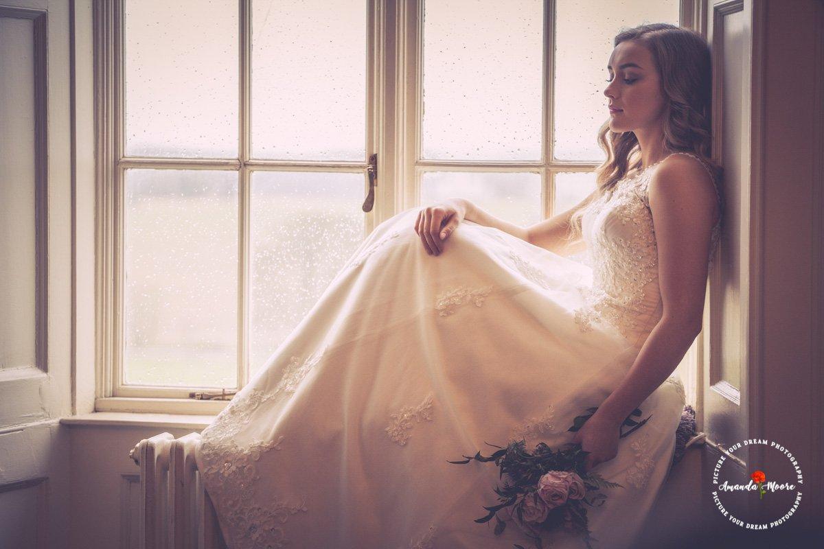 Bride on the windowsill