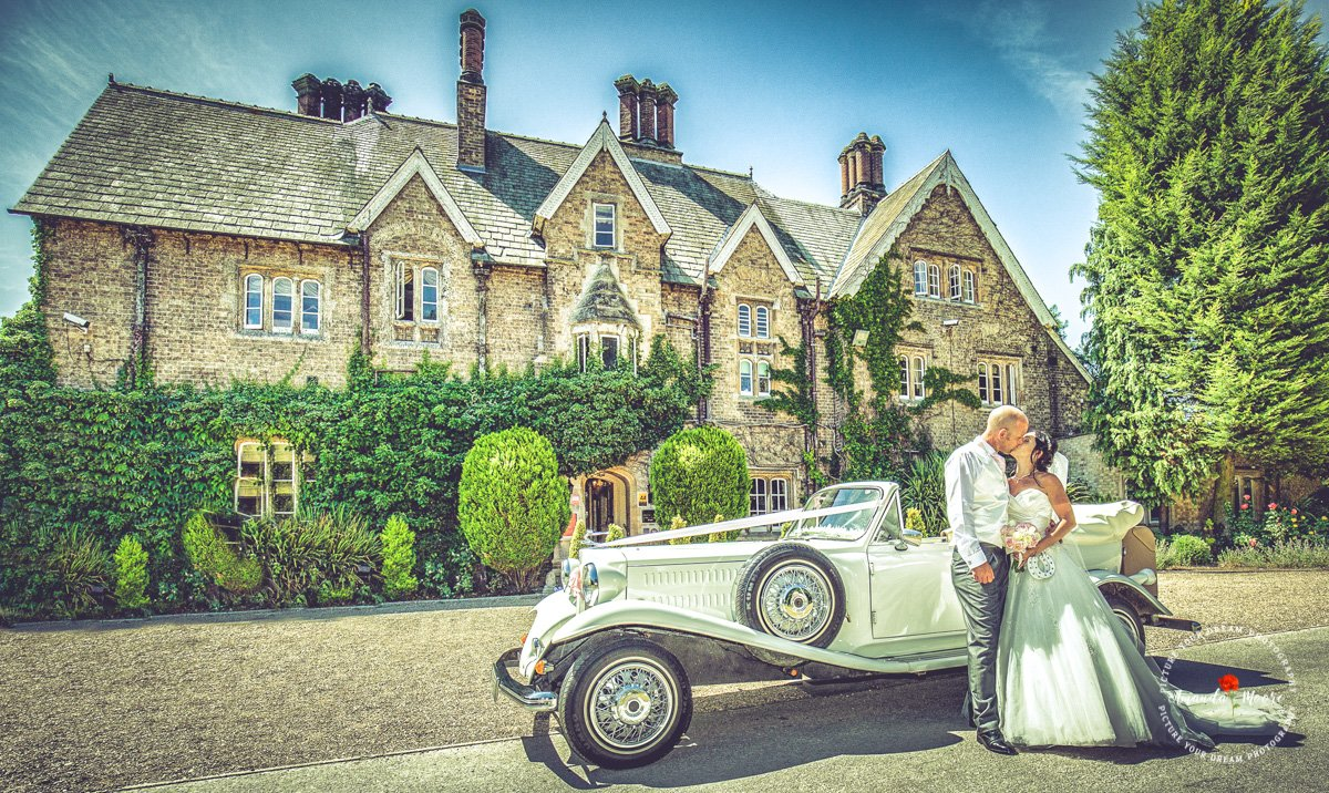 bride and groom at the parsonage hotel wedding