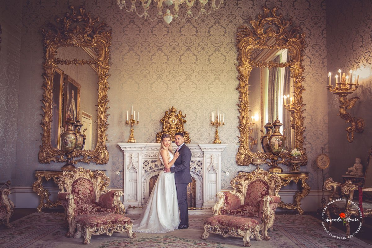bride and groom married at allerton castle