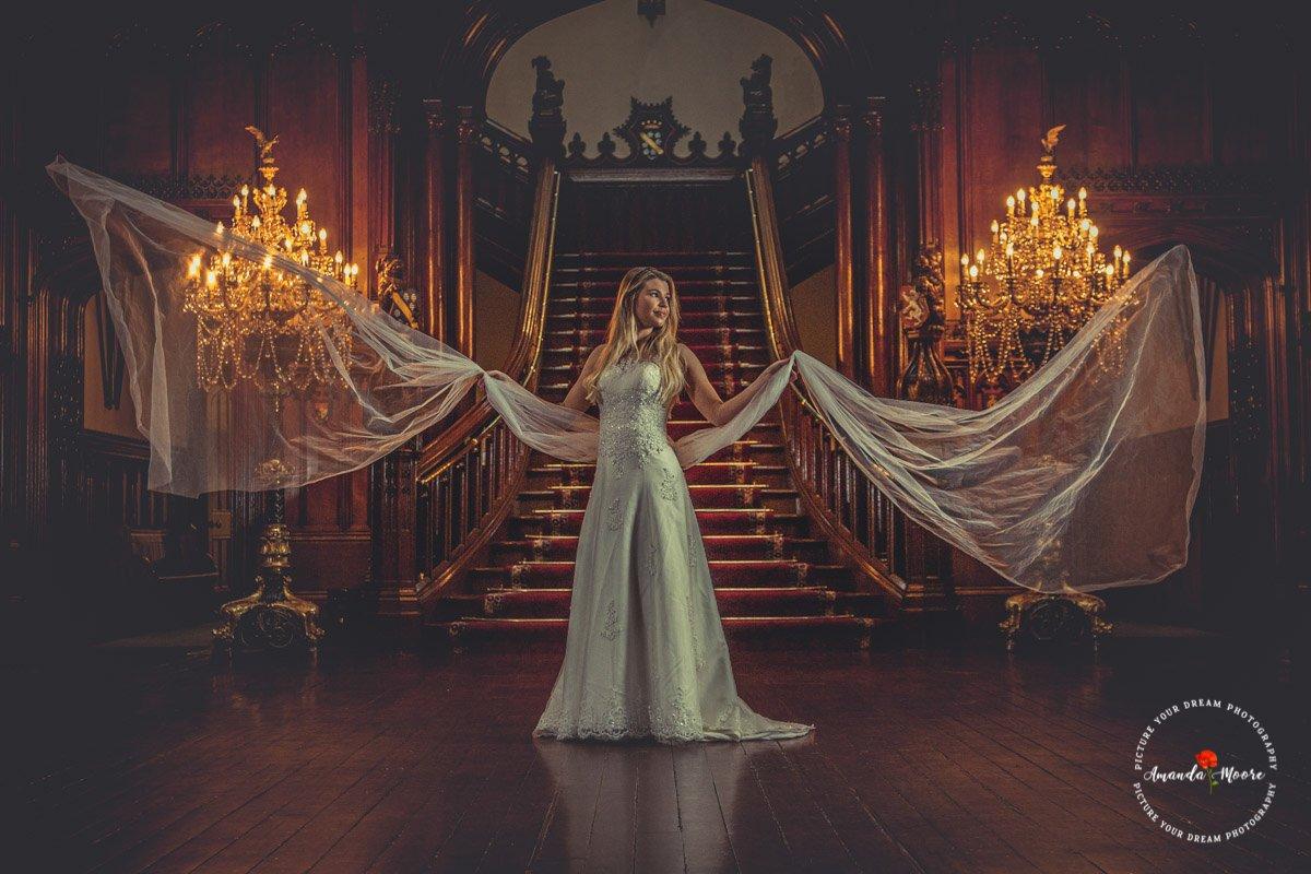 Bride at allerton castle
